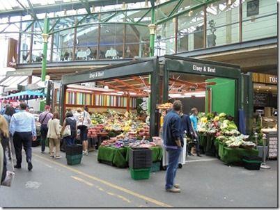 ボロマーケットで売られている野菜ロンドンテロ現場