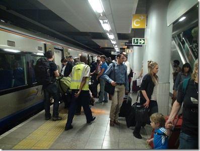 GAU TRAIN車体 駅