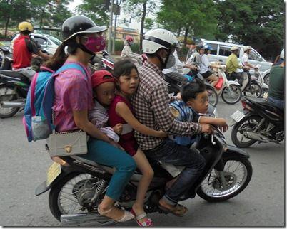 ベトナムの5ケツバイク