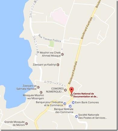 国立コモロ博物館地図