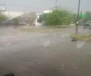 ゴルフボールサイズの雹が町中に降り注ぐ!【動画1本・画像10枚】*