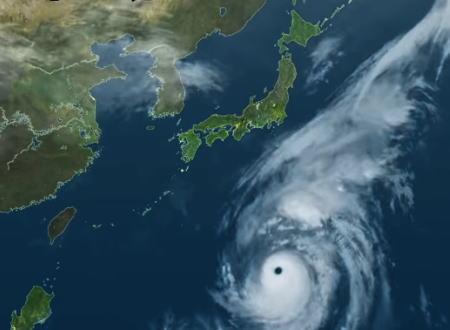 台風19号衛星動画。日本に接近してから12日に東日本を通過するまでの軌跡。