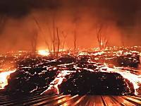 私の家が溶岩に飲み込まれようとしている!ハワイ民が投稿した動画がすごい。