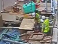埋まっていた11,000ボルトのケーブルにドリルを誤ってぶち刺してしまった作業員。