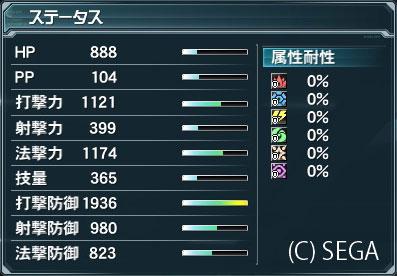 ステータス 打撃防御:1936