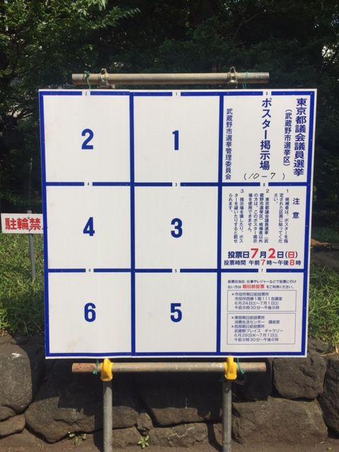 武蔵野市長選挙で、市議補選はど...