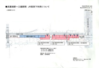 武蔵境~三鷹間JR高架下利用について