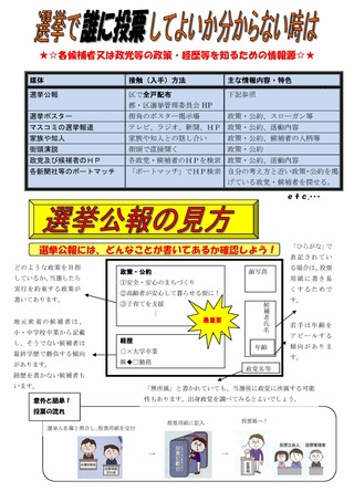 senkyokouhounomikata