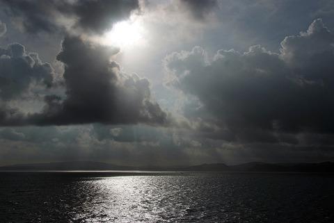 太平洋の早朝