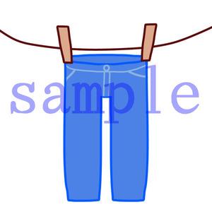 イラストレイン「干されたズボン」
