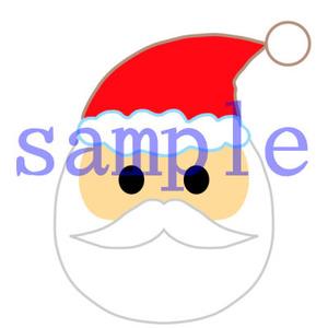 イラストレイン「サンタクロースの顔」