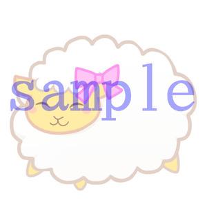 イラストレイン「ひつじ(リボン)」02
