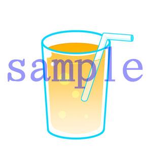イラストレイン「オレンジジュース」