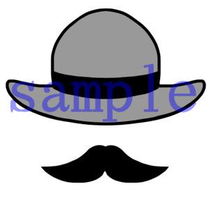 イラストレイン「帽子とヒゲ」