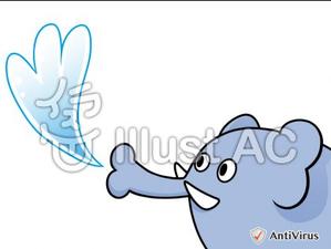 イラストAC「水ふき象」