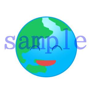 イラストレイン「地球(笑顔)」