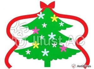イラストAC「クリスマスツリー」04