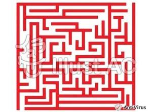 イラストAC「迷路(赤)」