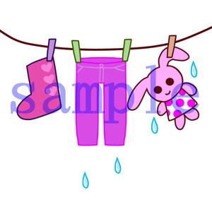 イラストレイン「洗濯物」02