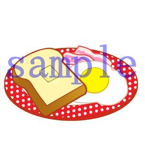 イラストレイン「トースト&ベーコンエッグ」