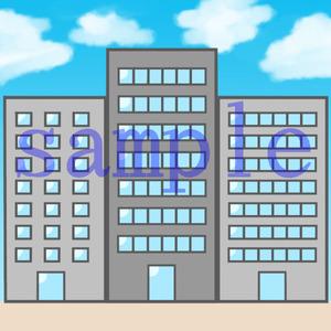 イラストレイン「ビル街」