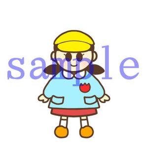 イラストレイン「帽子を被っている園児(女の子)」