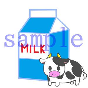 イラストレイン「牛乳と牛」