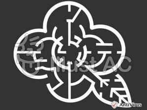 イラストAC「花の迷路」(白)
