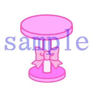 イラストレイン「リボンのテーブル」