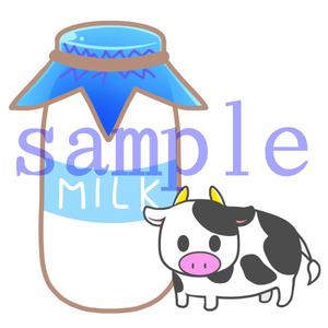 イラストレイン「牛乳とウシ」02