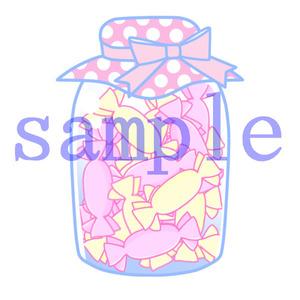 イラストレイン「瓶詰キャンディ」