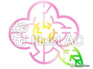 イラストAC「花の迷路」