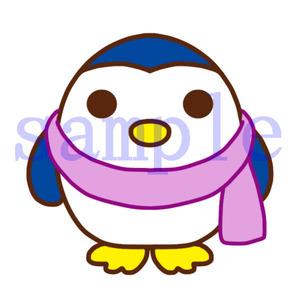 イラストレイン「マフラーを巻いたペンギン」