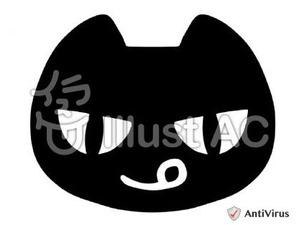 イラストAC「ネコ(黒)」