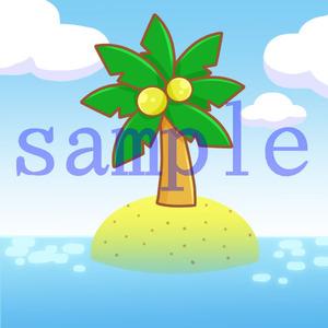 イラストレイン「島」