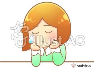 イラストAC「泣いている女の子」