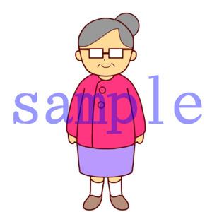 イラストレイン「おばあさん(メガネ)」