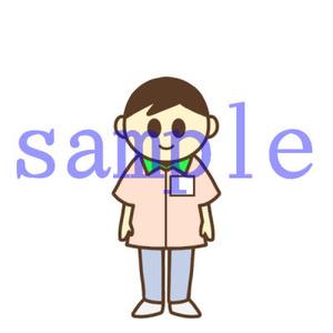 イラストレイン「コンビニ店員(男)」
