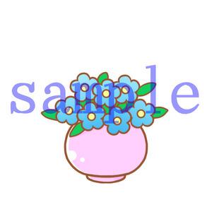 イラストレイン「花瓶の花」