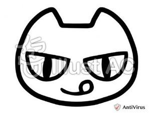 イラストAC「ネコ(線画)」
