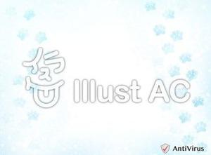 イラストAC「雪の足跡」