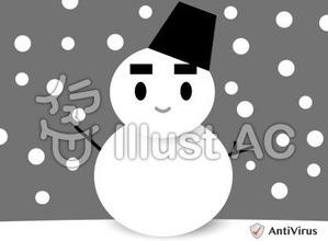 イラストAC「雪だるま」06