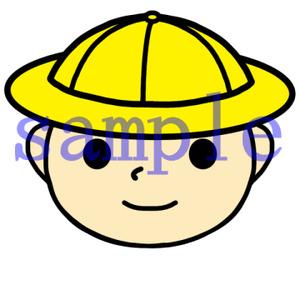 イラストレイン「帽子を被った男の子」