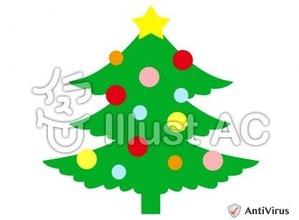 イラストAC「クリスマスツリー」01