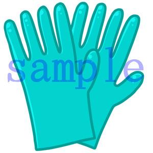 イラストレイン「ゴム手袋」