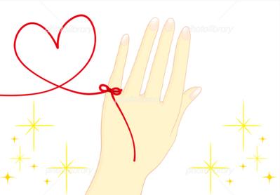 赤い糸(ハート)