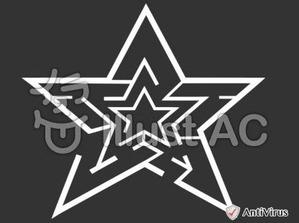イラストAC「星の迷路」(白)