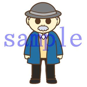 イラストレイン「帽子を被ったおじいさん」01