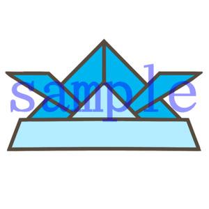 イラストレイン「折り紙の兜」
