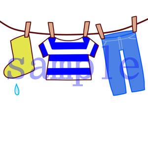 イラストレイン「洗濯物」